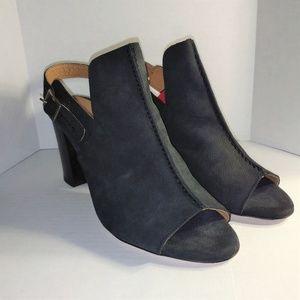 Firenze Studio Black Leather Heel Size 9
